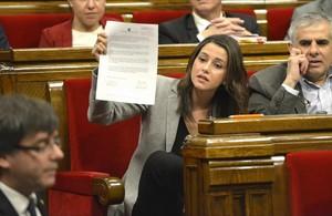 Inés Arrimadas, líder de Ciutadans en el Parlament.