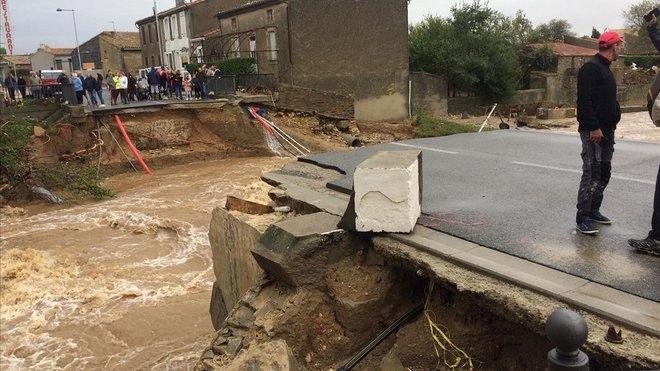 Inundaciones enVillegailhenc.