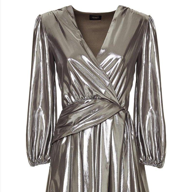 Vestido plata de Liu.Jo.