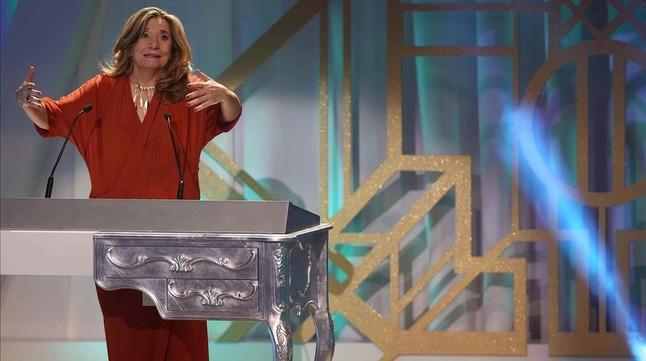 Isona Passola, presidenta de la Acadèmia Catalana de Cinema, en la gala de los premios Gaudí, el pasado domingo.