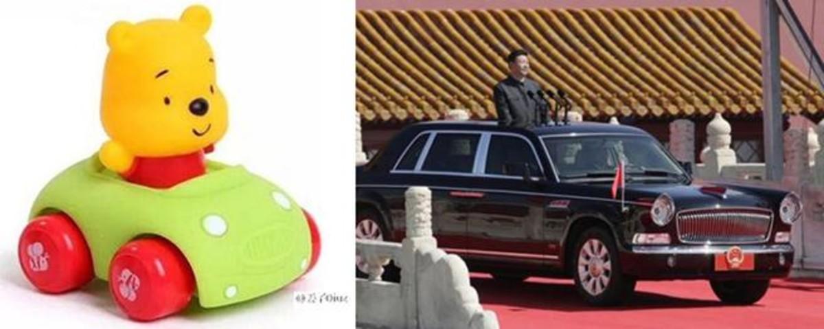 Xi Jinping es comparado y ridiculizado con imágenes de Winnie the Pooh.