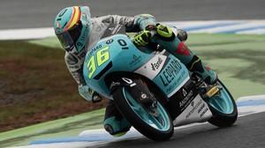 Joan Mir (Honda), en los entrenamientos de hoy en Motegi (Japón).