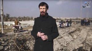 John Cantlie, en uno de los vídeos propagandísticos del Estado Islámico.