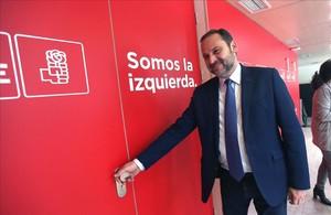 José Luis Ábalos, este miércoles en la sede del PSOE.