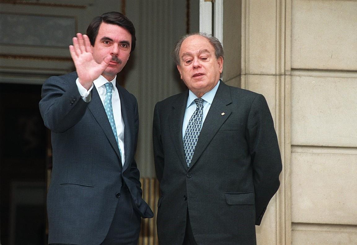 José María Aznar y Jordi Pujol, el 11 de febrero de 1997.