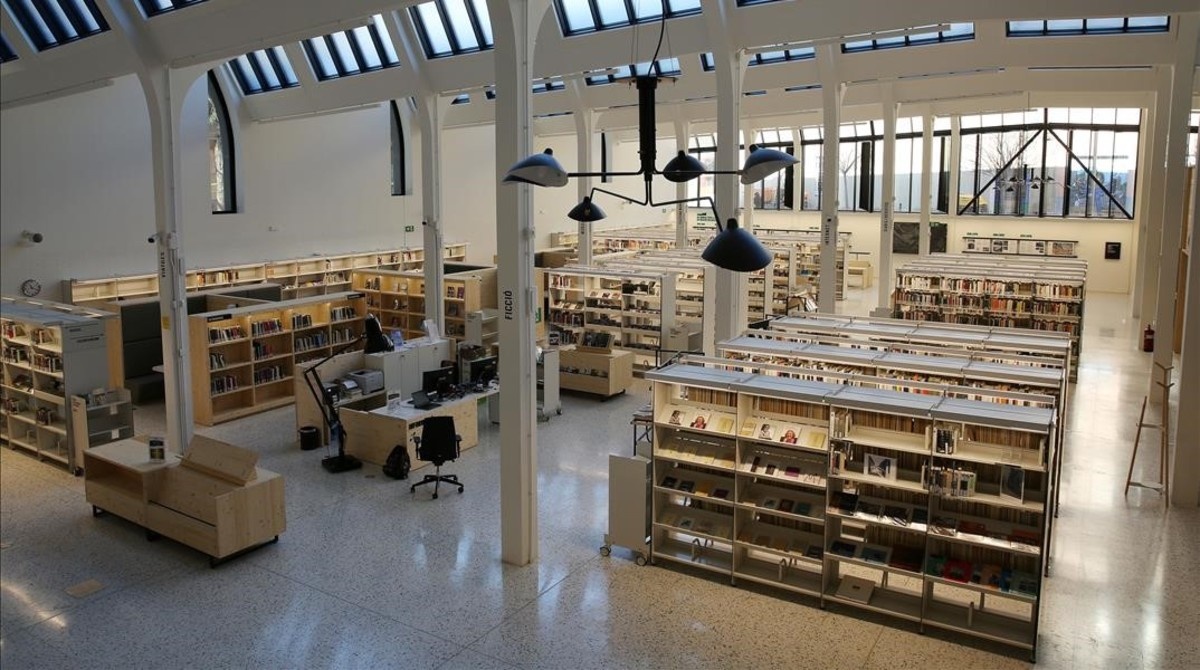 La bibliotecaMontserrat Abellóde Les Corts, en Barcelona.