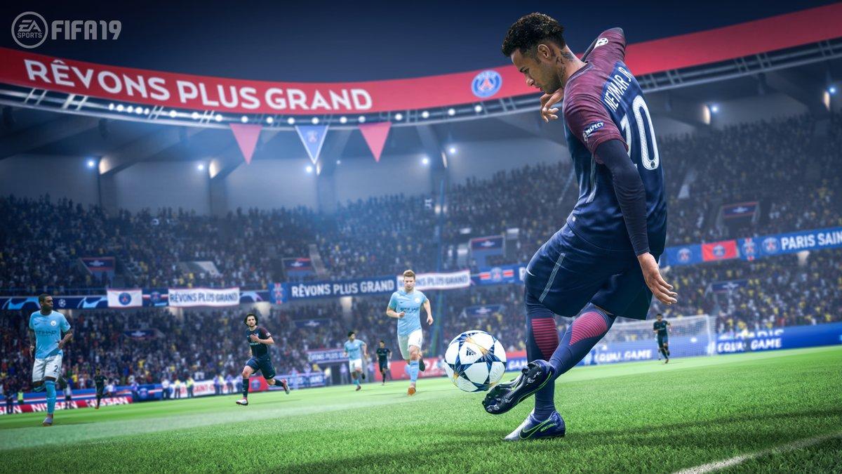 El juego FIFA 19.