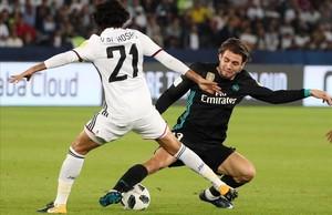 Kovacic, durante la semifinal del Mundial de Clubs ante el Al Jazira.