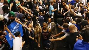 Lebron James, tras derrotar los Cavaliers a los Celtics.