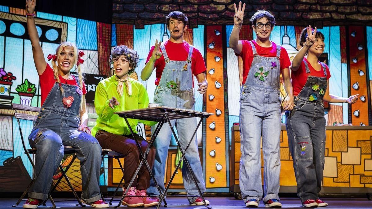 El grupo de música infantil Cantajuego en una actuación