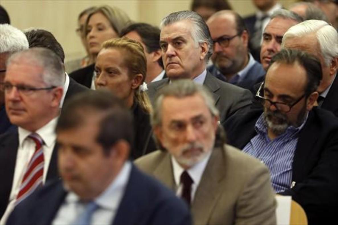 Luis Bárcenas y Francisco Correa, durante el juicio del caso Gürtel.