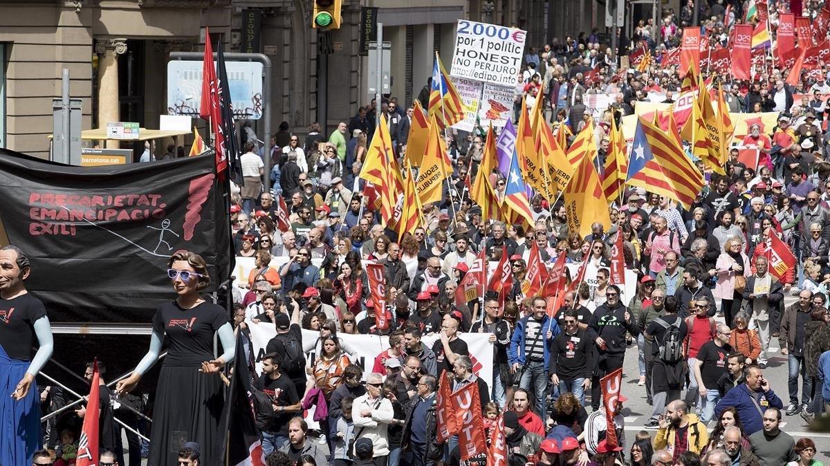 Manifestación del primero de mayo del 2017.