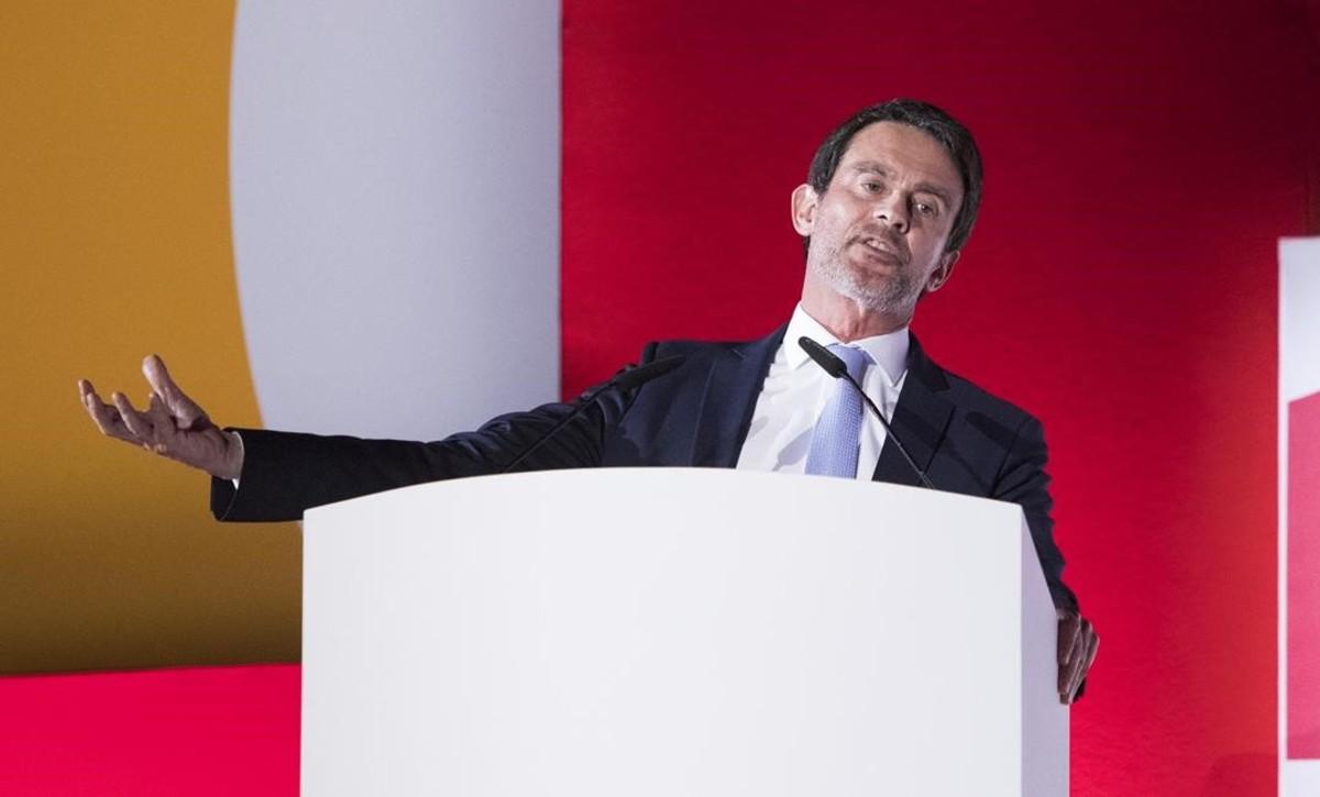 Manuel Valls, en un acto de Societat Civil Catalana.