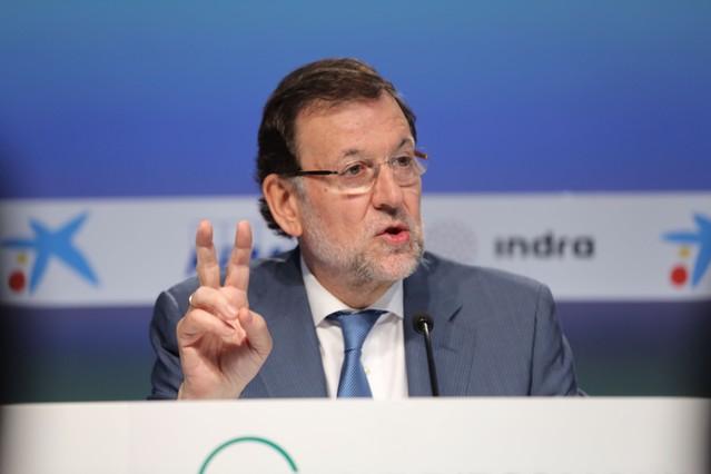 Mariano Rajoy, en la reunión del Cercle dEconomia en Sitges, el pasado mayo.