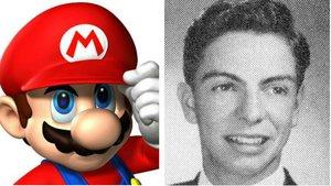 Imagen del personaje Super Mariode Nintendo y, a su derecha, una fotografía de Mario Segale.