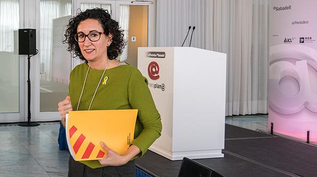 Marta Rovira en el foro de debate Primera Plan@ de EL PERIÓDICO