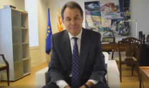 Captura del vídeo que ha colgado Artur Mas en Facebook.