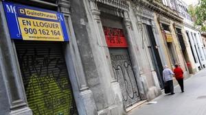 Tiendas cerradas en el Chinatown de Trafalgar.