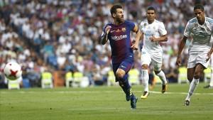 Messi, en el partido de vuelta de la Supercopa de España.