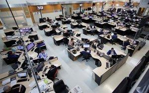 Un sitio de trabajo en México sin mujeres en el paro feminista.