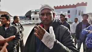 Mohamed, un migrante paquistaníagredido por la policía croata.
