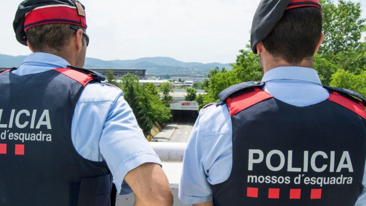 Agentes de los Mossos en una imagen de archivo.