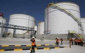 La nova terminal dhidrocarburs de Tradebe inaugurada aquest dijous al moll de lEnergia del port de Barcelona.