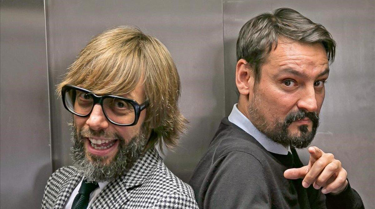 Òscar Dalamau y Òscar Andreu, los artífices de 'La nit dels Òscars', en TV-3.