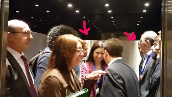 Pablo Iglesias explica su encuentro en un ascensor con Santiago Abascal.