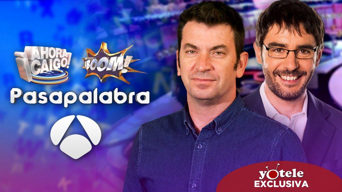 Los planes de Antena 3 con 'Ahora Caigo' y 'Boom' tras la llegada de 'Pasapalabra'