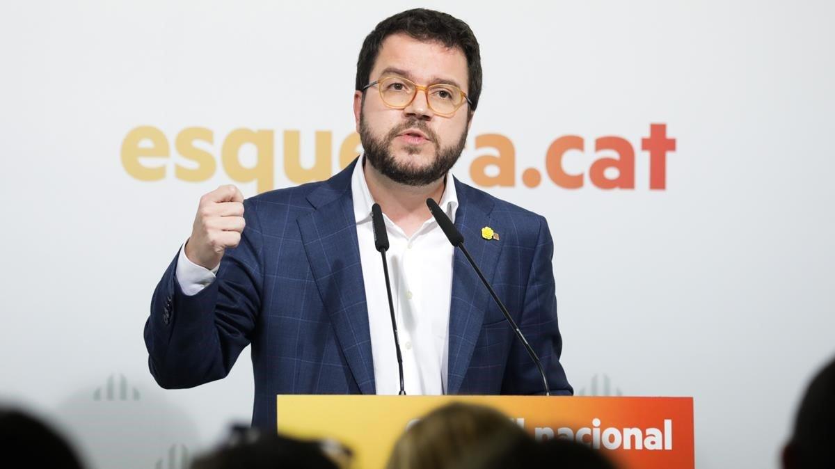 Pere Aragonès, vicepresidente del Govern y coordinador de ERC