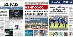 Portadas de los principales diarios de España.