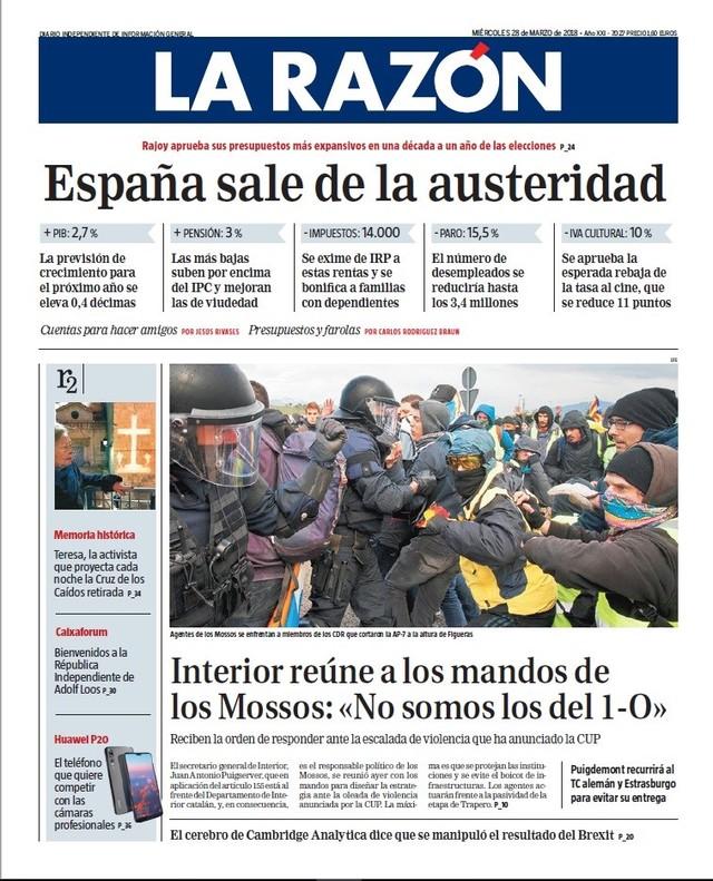 Rajoy está sin Presupuesto y el problema catalán crece en el mundo y España