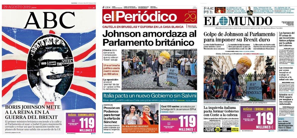 Prensa de hoy: Las portadas de los periódicos del jueves 29 de agosto del 2019