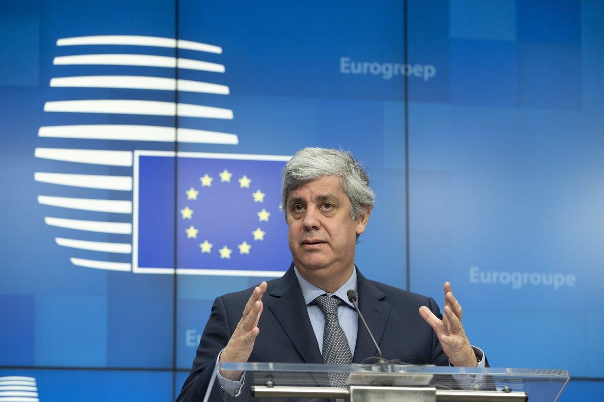 El presidente del Eurogrupo, el portugués Mário Centeno.