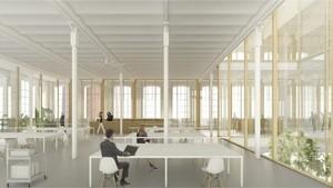 Una imagen virtual del proyecto del Archivo Municipal de Barcelona en Can Batlló.