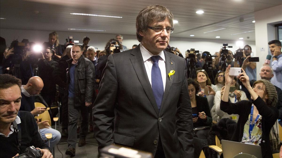 El 'expresident' Carles Puidemont, en Bruselas.