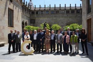 La recepción de los Premis en el Palau de la Generalitat.