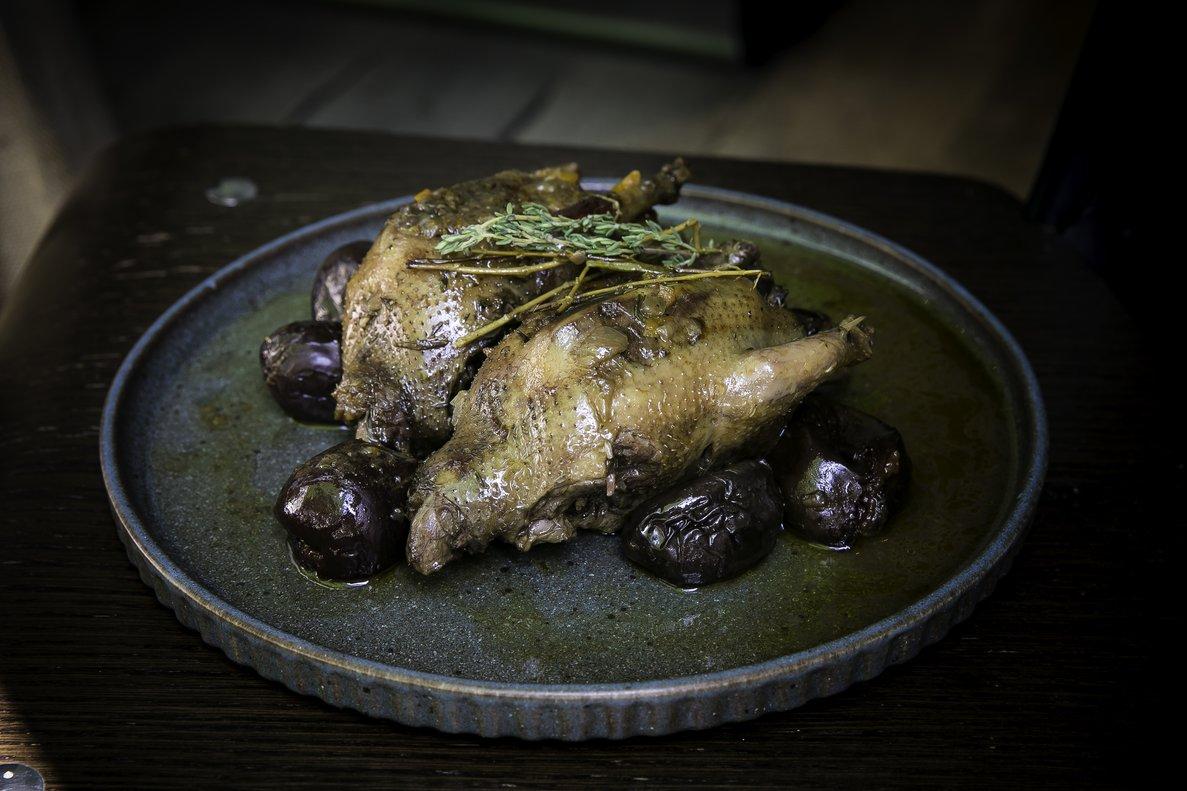 Receta de perdices de perdigón a la toledana con trufas, de Víctor Lema, chef de Bar Lobo.