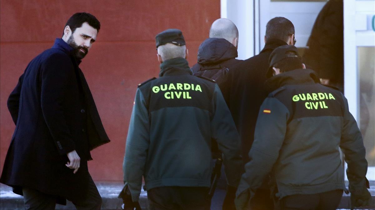 """Roger Torrent: """"Son víctimas de un juicio político, de una causa política"""".."""
