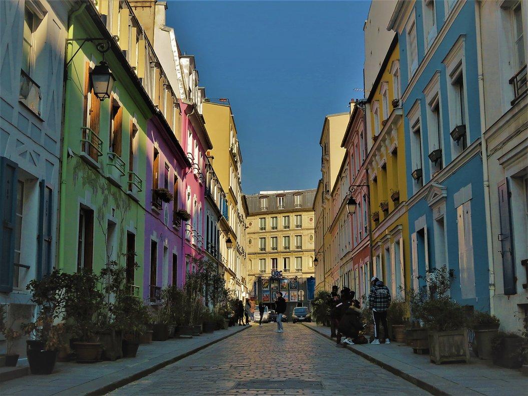 La rue Crémieux, meca de 'instagramers' de París.