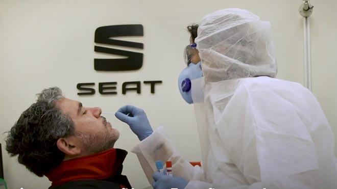 Seat comença a fer tests als seus 15.000 empleats per a la seva tornada a la feina
