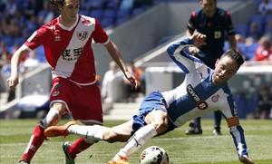 Sergio García (Espanyol) en un partido contra el Rayo Vallecano