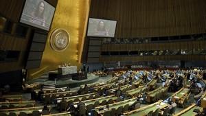 Sesión de la Asamblea General de la ONU, en Nueva York, en una imagen de archivo.