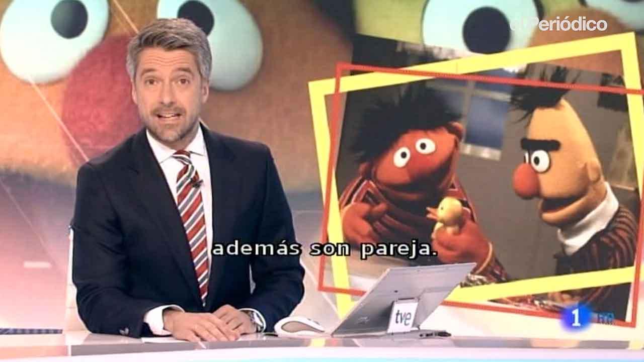 Epi y Blas, protagonistas de Telediario.