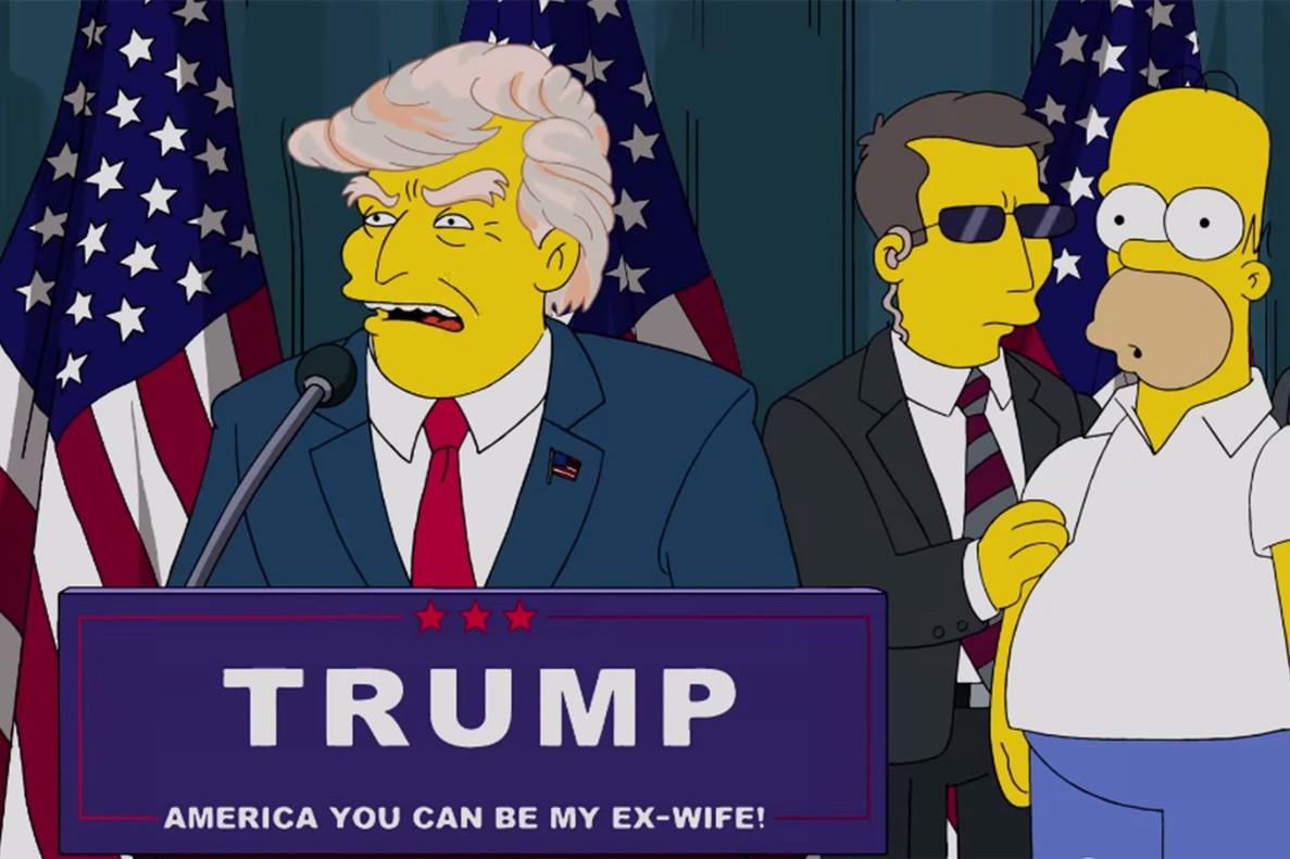 Imagen del capítulo de 'Los Simpson' en el que se fabula con Donald Trump como presidente de EEUU.