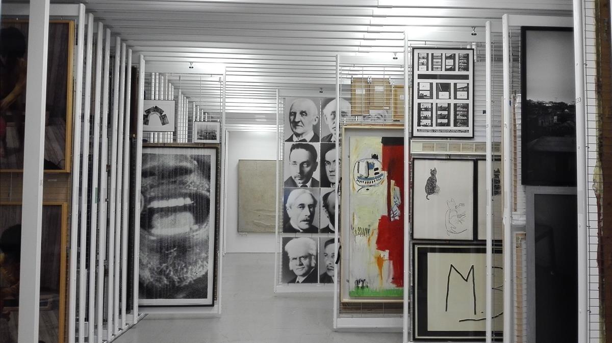 Una de las salas de reservas del Macba, donde este viernes el museo ha presentado la temporada 2018.