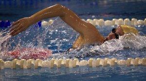 Nadadora en una competición.