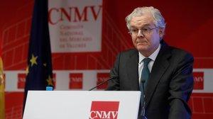 Sebastián Albella, presidente de la CNMV.