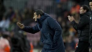 Valverde, durante el partido.